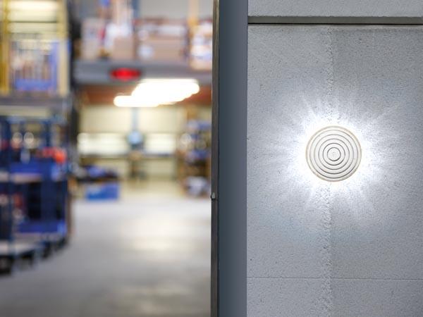 LÁMPARA ESTROBOSCÓPICA LEDS TRANSPARENTES ø 100 MM