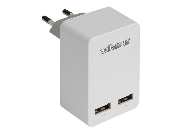 CARGADOR USB 2 CONEXIONES 5V