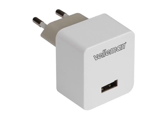 CARGADOR CON CONEXIÓN USB 5V 2.4A