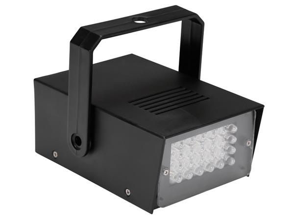 MINI ESTROBOSCOPIO CON LEDS BLANCOS 24 LEDS FUNCIONA CON PILAS