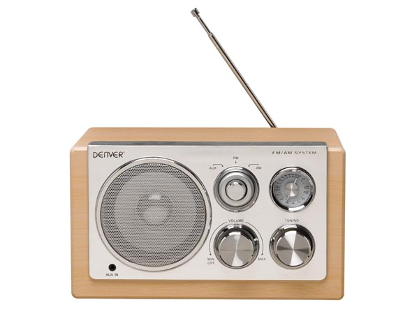 RADIO FM RETRO PORTÁTIL MADERA MP3