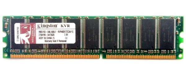 MEMORIA 1GB KVR400X72C3A 2.6V