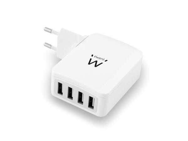 CARGADOR INTELIGENTE CON 4 PUERTOS USB