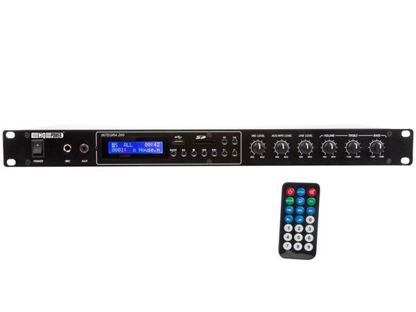 AMPLIFICADOR PA CON REPRODUCTOR MP3 100WRMS