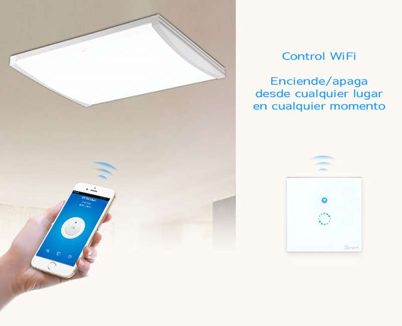 ENCHUFE INTERRUPTOR TACTIL WIFI IOS ANDROID