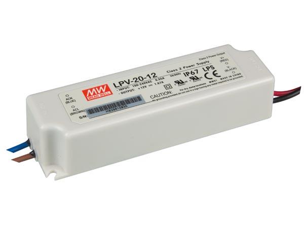 ALIMENTACIÓN PARA LEDS CON TENSIÓN CONSTANTE 12VDC 20W IP67