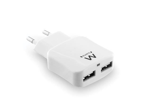 CARGADOR INTELIGENTE CON 2 PUERTOS USB 2.4A