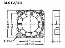 VENTILADOR 12V DC COJINETE LISO 40 X 40 X 10MM