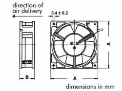 VENTILADOR SUNON 12VDC COJINETE LISO 40 X 40 X 10MM