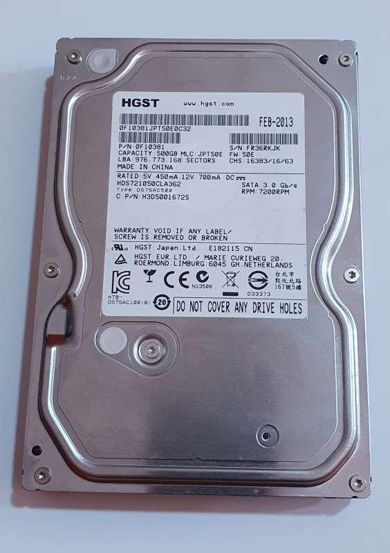 HD DISCO DURO 500GB SATA 3.5 7200RPM