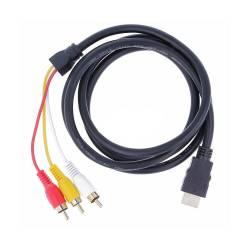 CABLE 1080P HDMI MACHO A 3RCA ADAPTADOR TRANSMISION SALIDA AUDIO VIDEO 1,5M