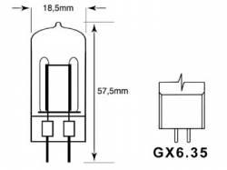 BOMBILLA JDC 300W 240V GX 6.35