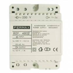 ALIMENTADOR FERMAX 12V AC 1A DIN4 4802