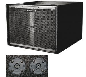 SUBWOOFER PROFESIONAL 18 1200W 76X74X58CM