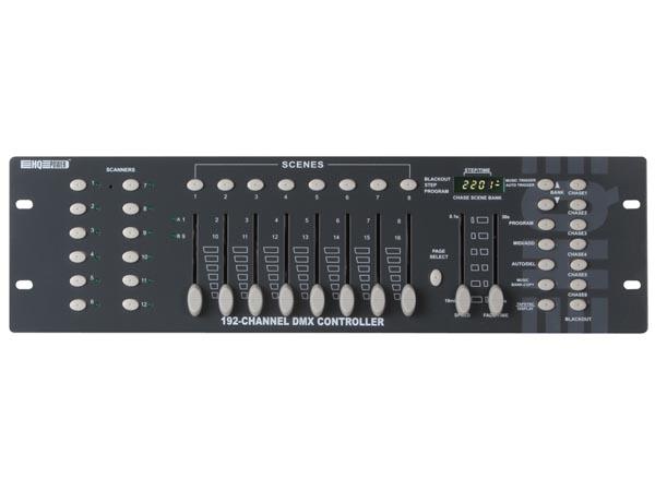 MESA CONTROLADOR DMX DE 192 CANALES