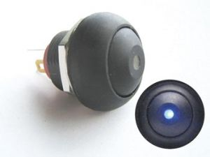 PULSADOR INTERRUPTOR PEQUEÑO CON LED AZUL 1P SPST OFF (ON)