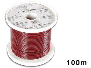 CABLE ALTAVOZ CCA 2 X 0.50MM² ROJO/NEGRO 100 METROS