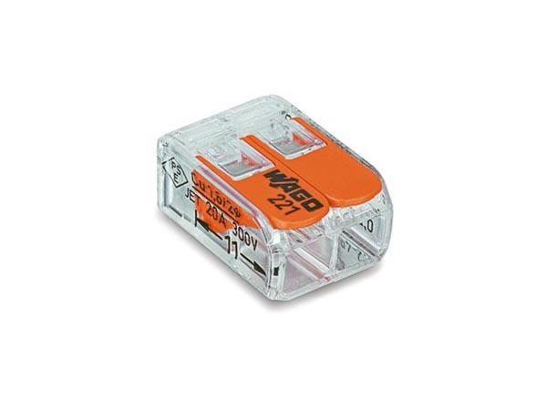 CONECTOR CONEXIÓN COMPACTO 2 X 0.2 4 MM² PARA TODOS TIPOS DE CABLES