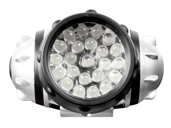 LINTERNA FRONTAL CON 23 LEDS BLANCOS ULTRALUMINOSOS