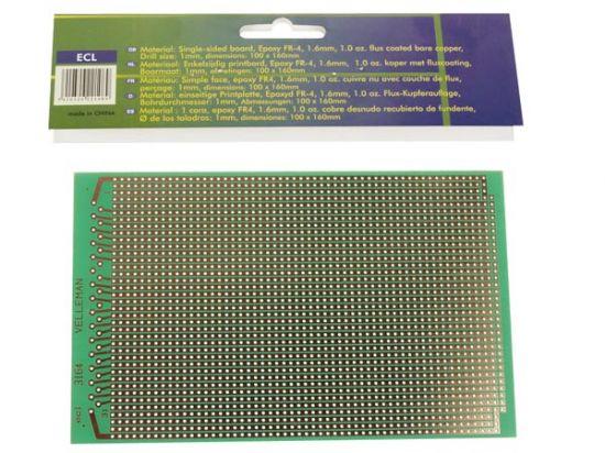 PLACA EUROCARD 2 AGUJEROS - 100x160mm - FR4 (25 uds./caja)