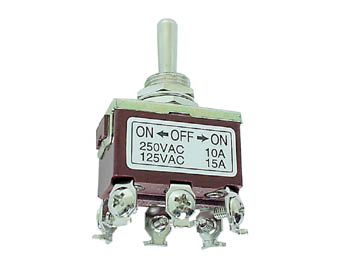 INTERRUPTOR DE PALANCA MAXI DPDT ON-OFF-ON 10A 250V