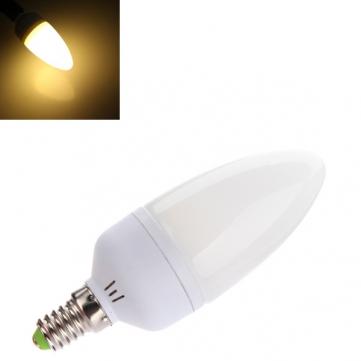 BOMBILLA VELA E14 60 SMD LED 3W 390 LUMENES LUZ CALIDA