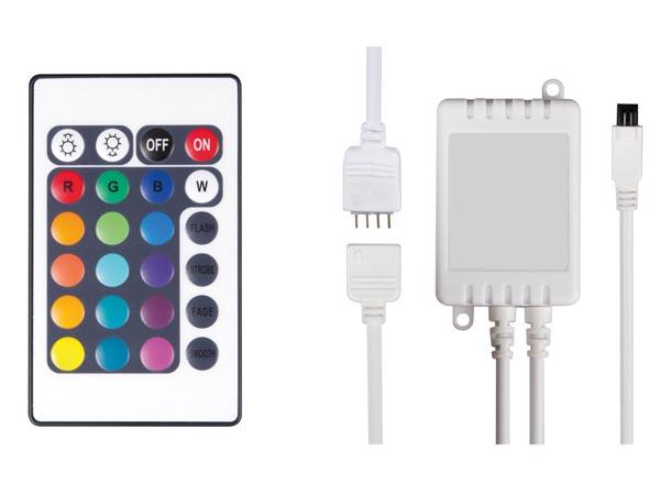 CONTROLADOR LED RGB CON MANDO A DISTANCIA 24 BOTONES