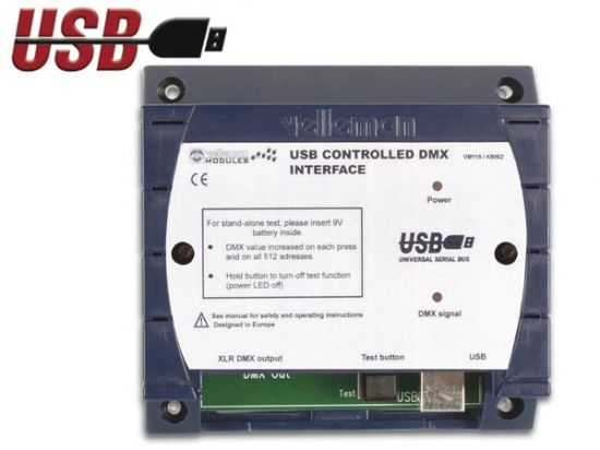 INTERFACE DMX CONTROLADA POR USB KIT PARA MONTAR