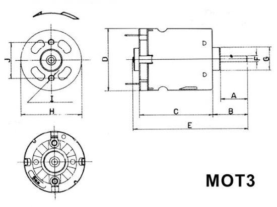 MOTOR DC 12VDC 180MA 11500RPM 6 A 24V
