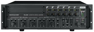 Amplificadores mezcladores para megafonía, 6 zonas, mono