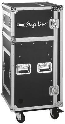 Rack profesional con ruedas para unidades de 482 mm (19)