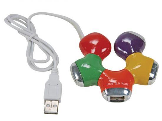 HUB USB 2.0 4 PUERTOS MULTICOLOR