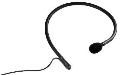 Micrófono electret de colocación en la nuca
