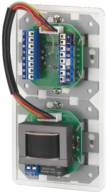 Selector de programa y control de volumen para megafonía