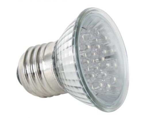 FOCO LED E27 COLOR AMARILLO 220VAC 18 LEDS