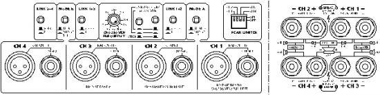 Amplificador profesional 4 canales 1400W