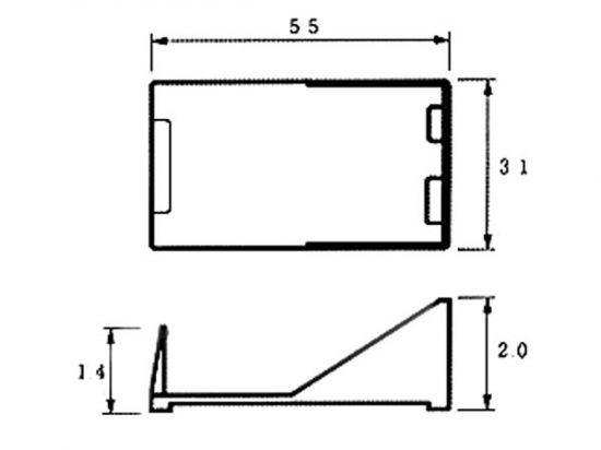 PORTAPILAS PARA 1 PILA DE 9V (CON HILOS)