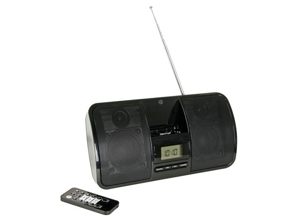 ALTAVOCES DOCK PARA IPHONE IPOD RADIO FM RELOJ Y ALARMA