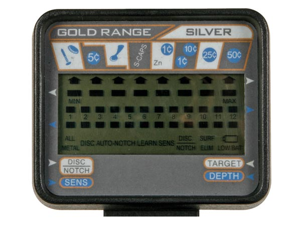 DETECTOR METALES PROFESIONAL CON PANTALLA LCD