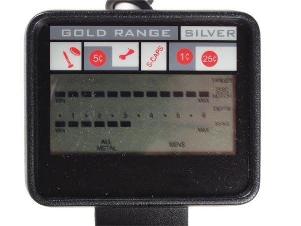 DETECTOR METALES CON PANTALLA LCD