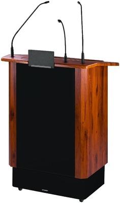 Atril profesional con sistema amplificador inalámbrico integrado