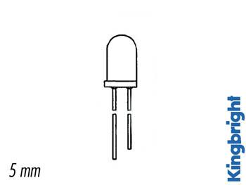 LED CON RESISTENCIA 5mm 12V ROJO DIFUSO