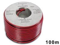 CABLE ALTAVOZ CCA 2 x 2.50mm² ROJO/NEGRO BOBINA 100m