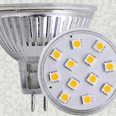 BOMBILLA MR16 3W 60 SMD LED 12V 400 LUMENES LUZ BLANCA
