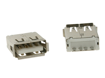 CONECTOR USB TIPO A HEMBRA CONECTOR SIMPLE 180º