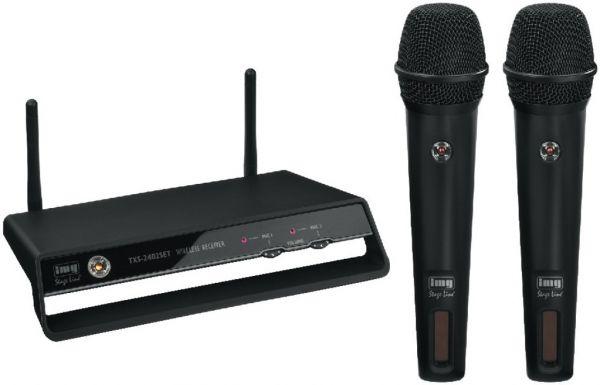 Sistema de micròfono PLL inalàmbrico digital de 2 canales 2,4GHz