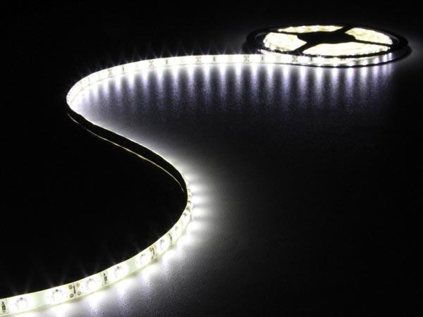 CINTA 300 LEDS FLEXIBLE BLANCO FRÍO 5 METROS 12V
