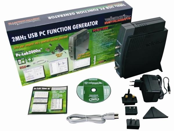 GENERADOR DE FUNCIONES PARA PC 2 MHZ USB