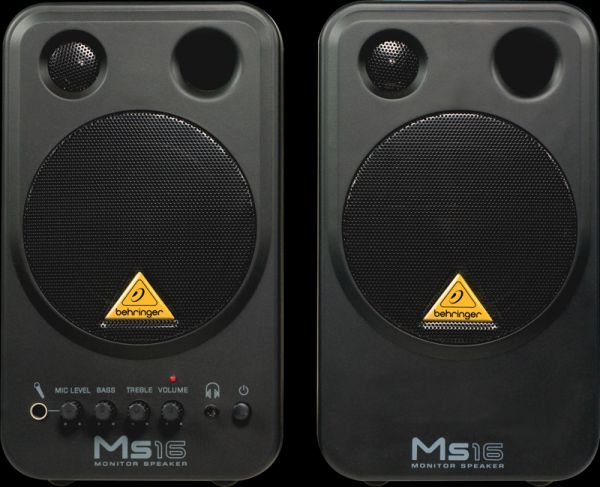 2 UNIDADES BEHRINGER MONITOR SPEAKERS MS16