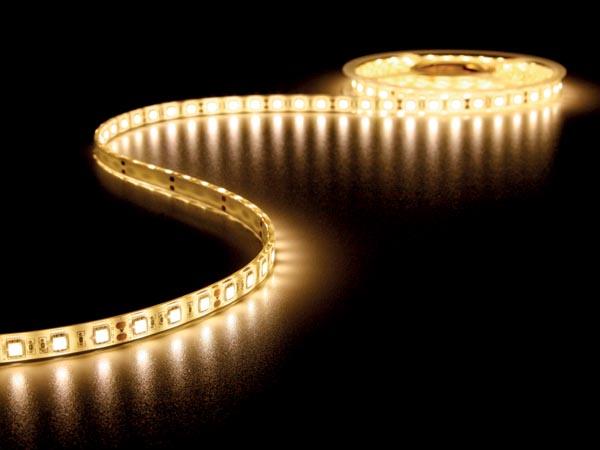 CINTA 300 LEDS FLEXIBLE BLANCO CÁLIDO 3500K 5 METROS 12V